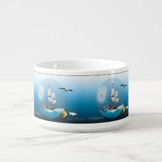 Ship in a light bulb bowl