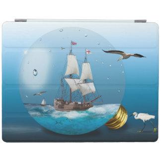 Ship in a light bulb iPad cover