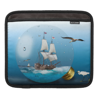Ship in a light bulb iPad sleeve