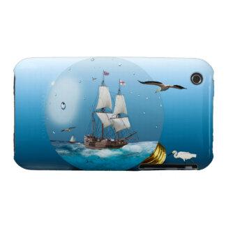 Ship in a light bulb iPhone 3 case