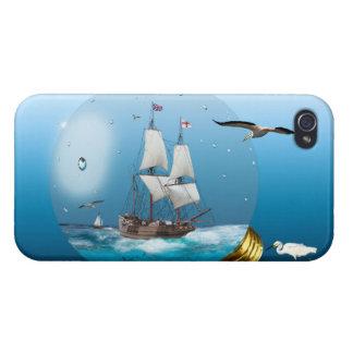 Ship in a light bulb iPhone 4 case
