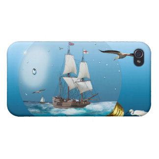 Ship in a light bulb iPhone 4 cover