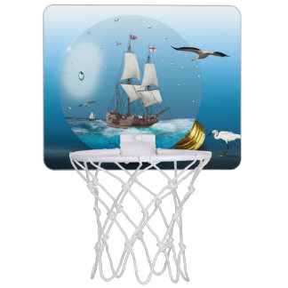 Ship in a light bulb mini basketball hoop