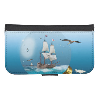 Ship in a light bulb samsung s4 wallet case