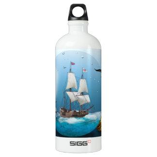 Ship in a light bulb water bottle