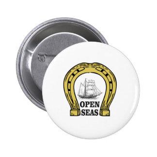 ship in open seas 2 inch round button