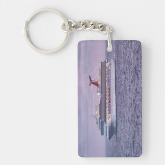 Ship in Purple Keychain
