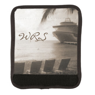 Ship in Sepia Monogrammed Luggage Handle Wrap