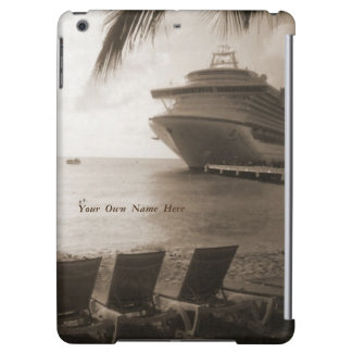 Ship in Sepia Personalized iPad Air Case