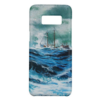 Ship In the Sea in Storm / Navy Blue Case-Mate Samsung Galaxy S8 Case