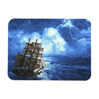 "Ship In The Storm 3""x4"" Photo Magnet"