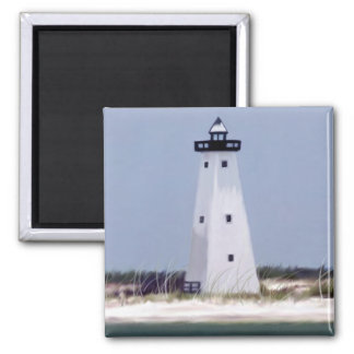 Ship Island lighthouse Square Magnet