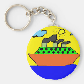 Ship - Kids Painting Keychain