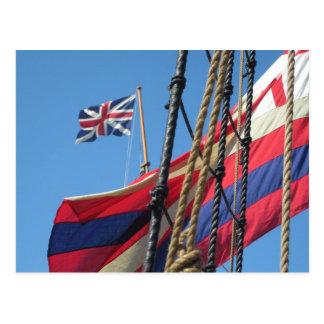 Ship Masts at Historic Jamestowne Postcard