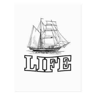ship on life postcard