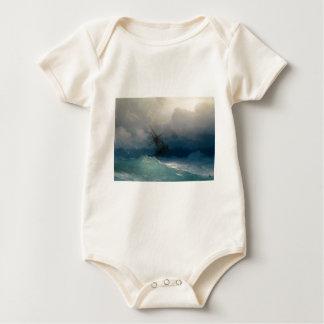 Ship on Stormy Seas, Ivan Aivazovsky Baby Bodysuit