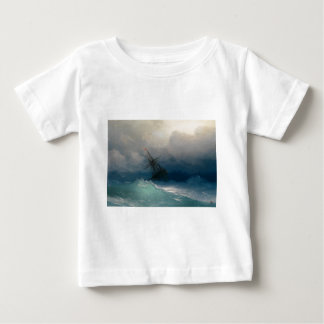Ship on Stormy Seas, Ivan Aivazovsky Baby T-Shirt