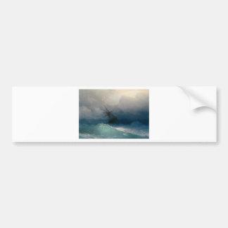 Ship on Stormy Seas, Ivan Aivazovsky - Bumper Sticker