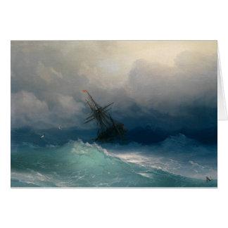 Ship on Stormy Seas, Ivan Aivazovsky Card