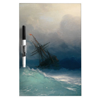 Ship on Stormy Seas, Ivan Aivazovsky Dry Erase Board