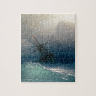 Ship on Stormy Seas, Ivan Aivazovsky Jigsaw Puzzle