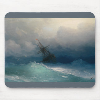 Ship on Stormy Seas, Ivan Aivazovsky Mouse Pad