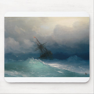 Ship on Stormy Seas, Ivan Aivazovsky - Mouse Pad