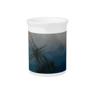 Ship on Stormy Seas, Ivan Aivazovsky Pitcher