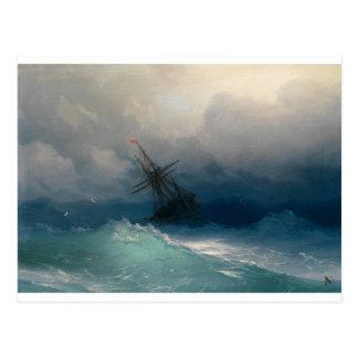 Ship on Stormy Seas, Ivan Aivazovsky Postcard