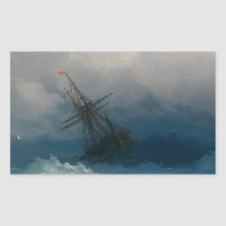 Ship on Stormy Seas, Ivan Aivazovsky Sticker
