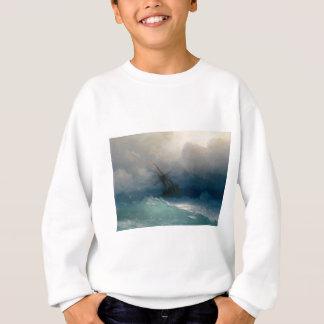 Ship on Stormy Seas, Ivan Aivazovsky - Sweatshirt