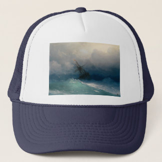 Ship on Stormy Seas, Ivan Aivazovsky - Trucker Hat
