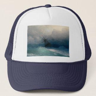 Ship on Stormy Seas, Ivan Aivazovsky Trucker Hat