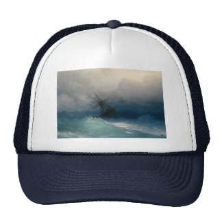 Ship on Stormy Seas, Ivan Aivazovsky - Trucker Hat
