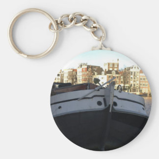 Ship on the Amstel River, Amsterdam Keychain