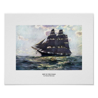 Ship on the Ocean Poster