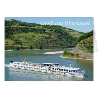 Ship on the Rhine with Oberwesel Card