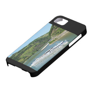 Ship on the Rhine with Oberwesel iPhone 5 Case