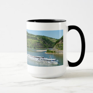 Ship on the Rhine with Oberwesel Mug