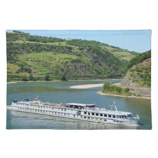 Ship on the Rhine with Oberwesel Placemat