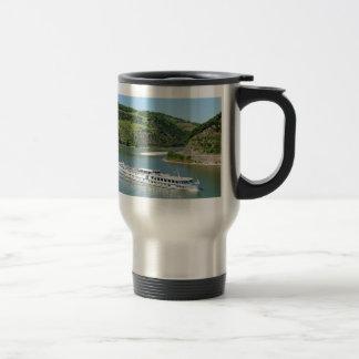Ship on the Rhine with Oberwesel Travel Mug