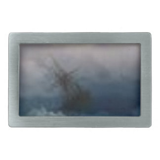 Ship On The Stormy Sea Painting Belt Buckles