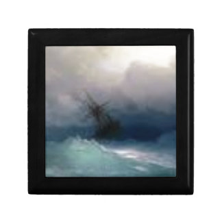 Ship On The Stormy Sea Painting Gift Box