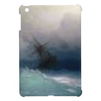 Ship On The Stormy Sea Painting iPad Mini Covers