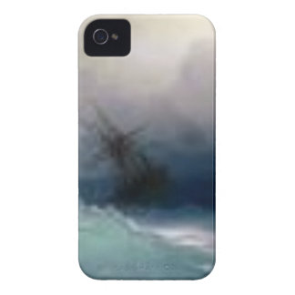 Ship On The Stormy Sea Painting iPhone 4 Case-Mate Case