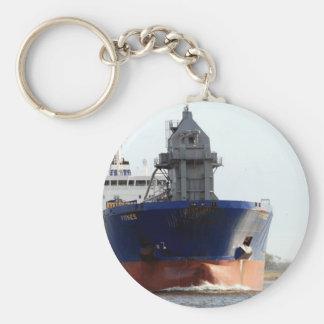 Ship on Weser Basic Round Button Keychain