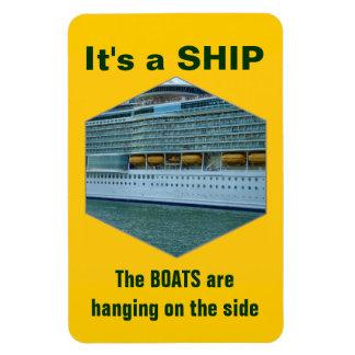 Ship or Boat Rectangular Photo Magnet