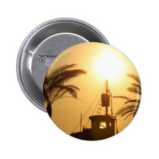 Ship Palm Trees Sun Photo Round Badge 2 Inch Round Button