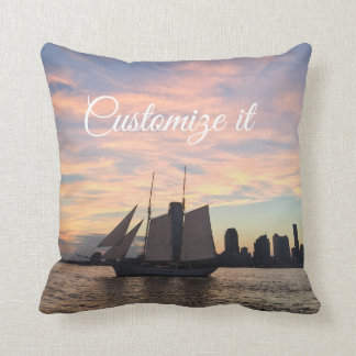 Ship Pillow Skyline