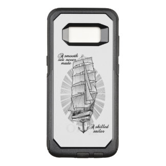 Ship Sailors Tattoo Illustration OtterBox Commuter Samsung Galaxy S8 Case